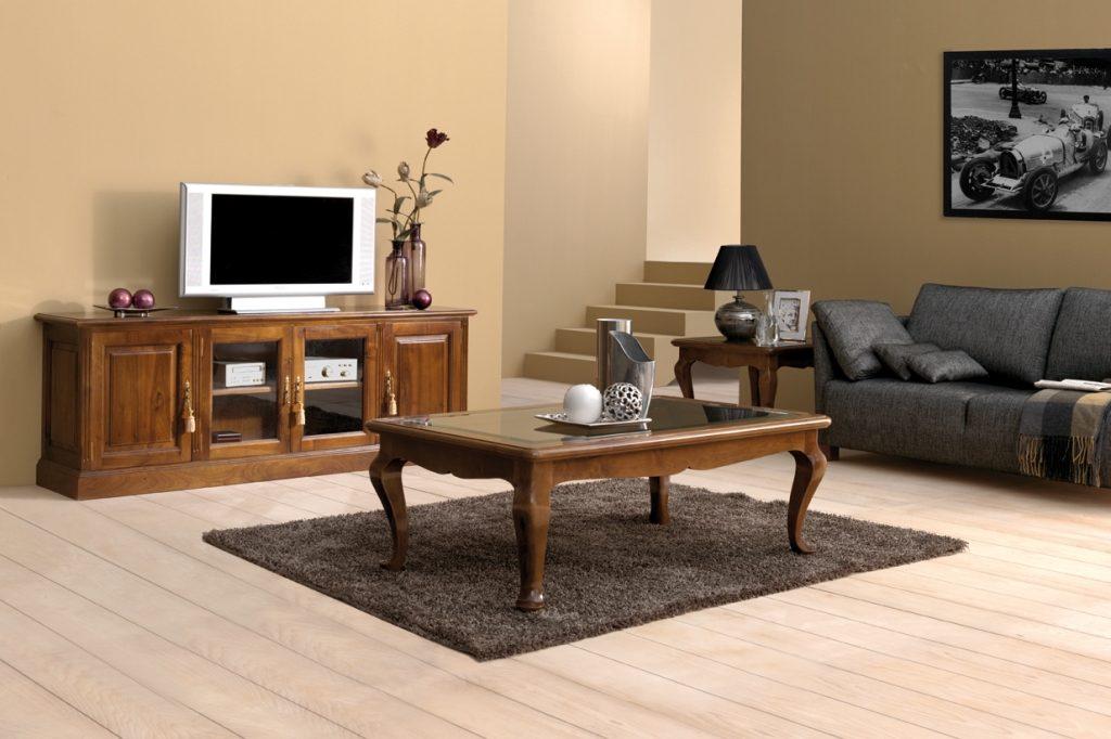 muebles clásicos a medida mesa y mueble de television