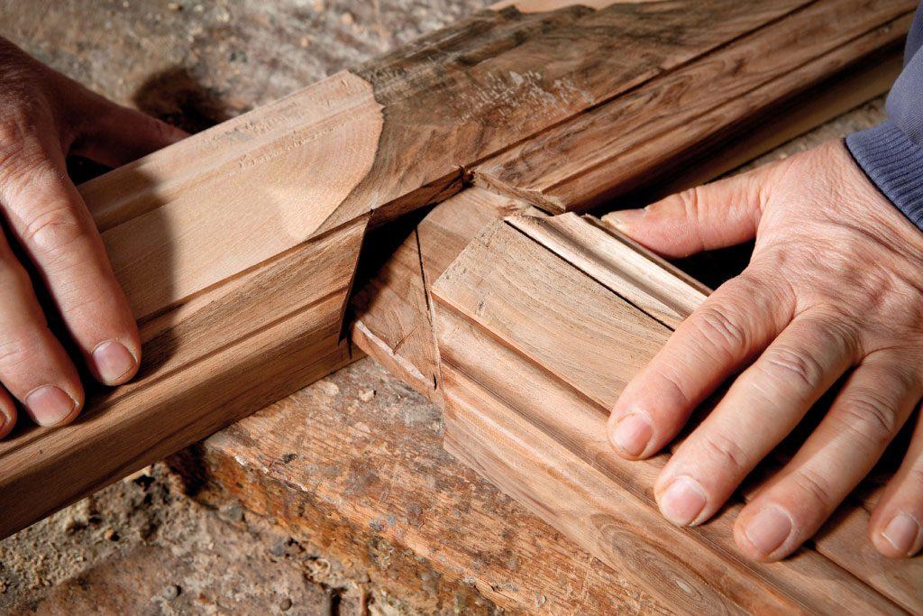 unión de piezas muebles clásicos aguirre artesanos