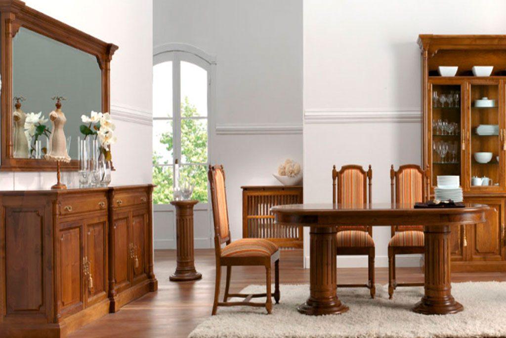 salon comedor clasico modelo zafiro de aguirre artesanos