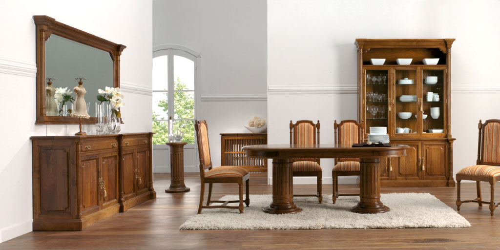 salon y comedor clásico modelo zafiro de aguirre artesanos