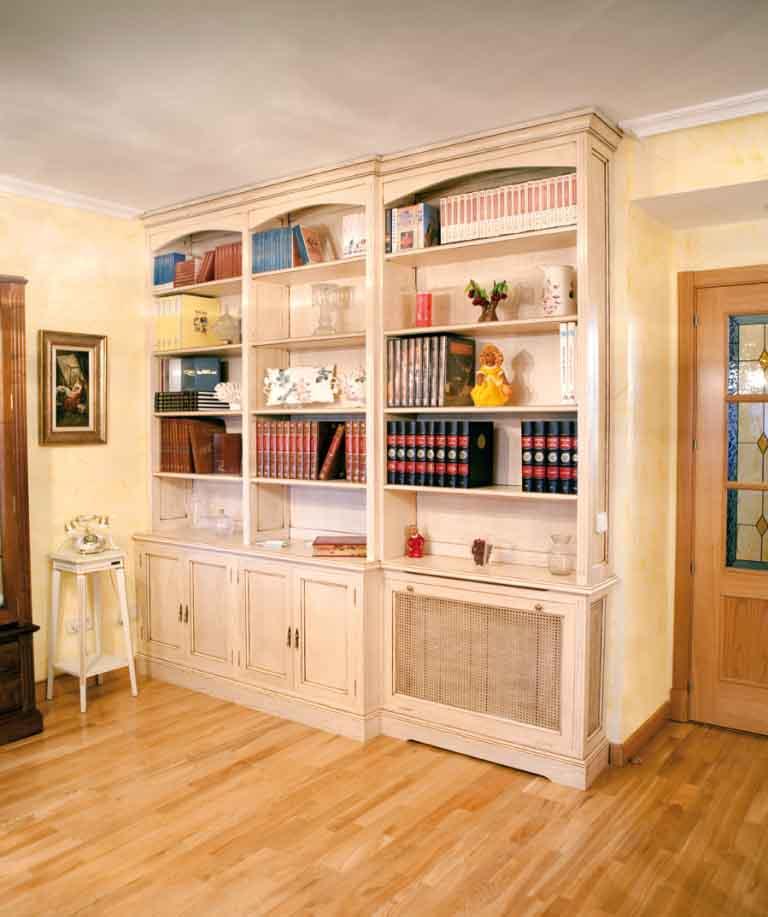 muebles salon clasicos en blanco
